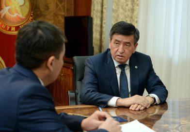 Жээнбеков УКМК төрагасы Идрис Кадыркуловду кабыл алды